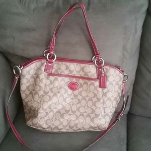 Coach Peyton Convertible Pvc Leather Tote